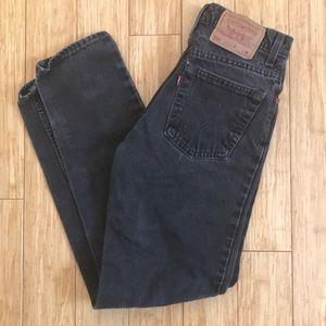 Vintage Black Levi 550 Mom Jeans!